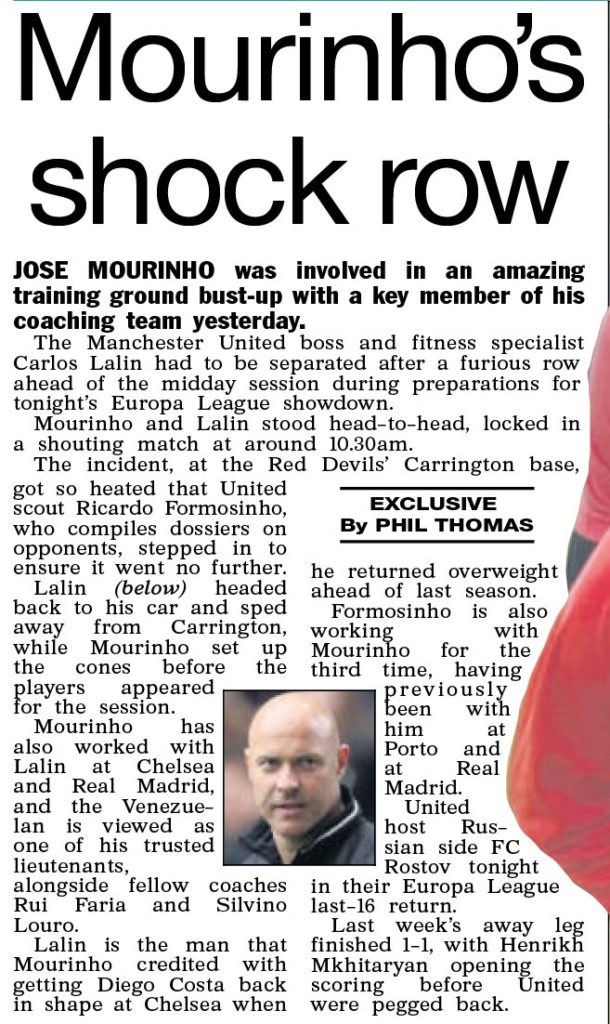 Man United bust-up