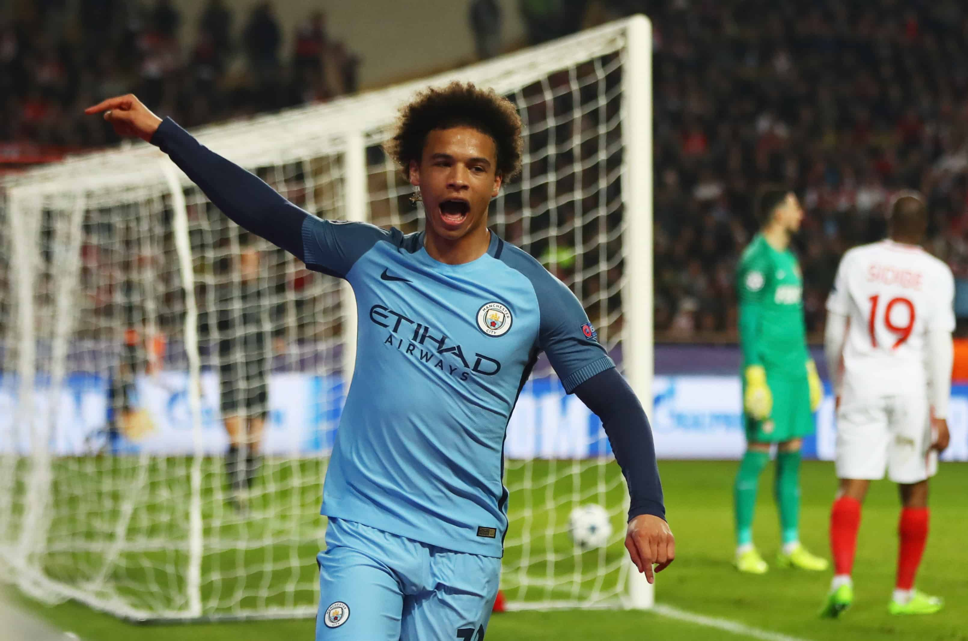 Praise heaped on Leroy Sane after goal against Monaco in Champions