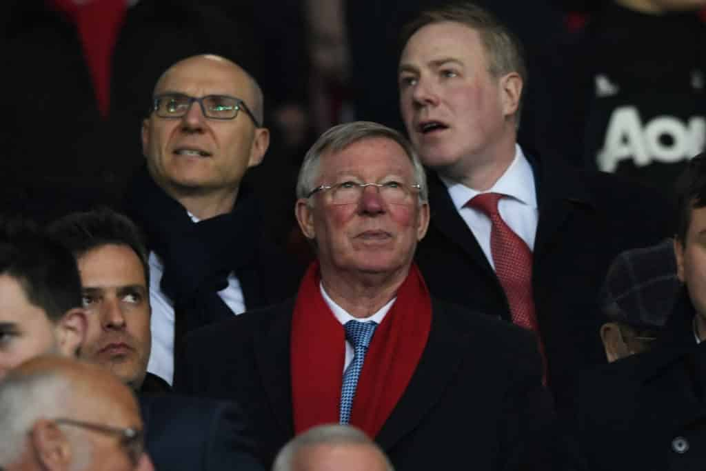 Fergie watching from stands