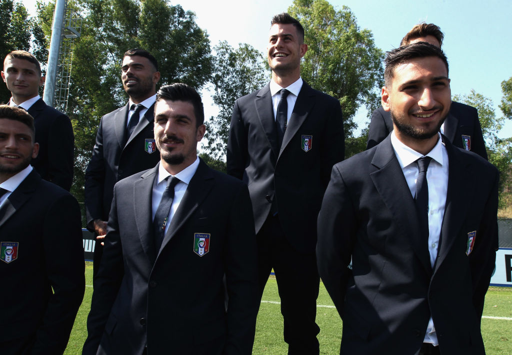 Gianluigi Donnarumma with Italy U21s