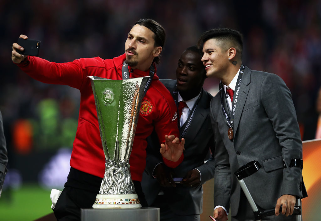 Zlatan & the Europa League trophy