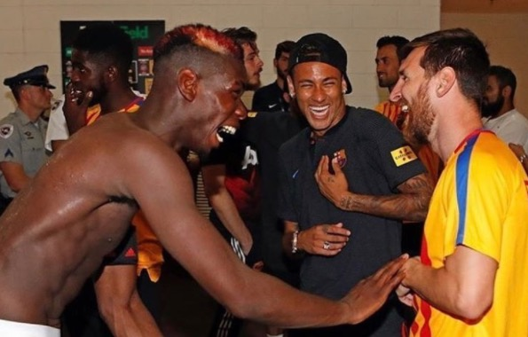 Leo Messi & Paul Pogba post hilarious picture after Barcelona 1 - Man United 0