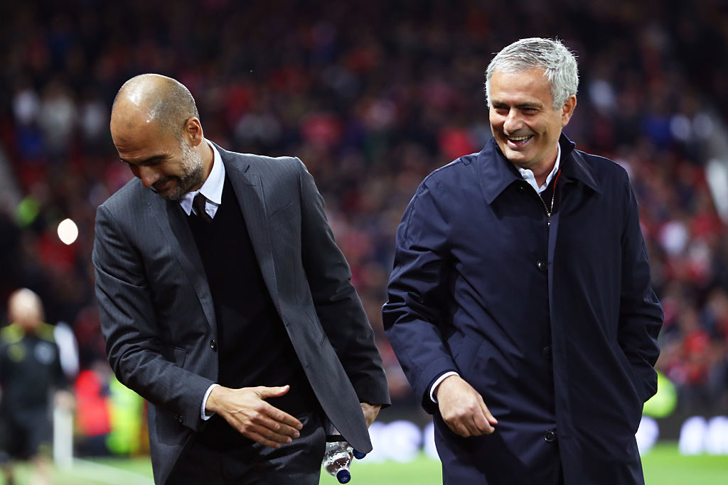 Jose Mourinho & Pep Guardiola laughing