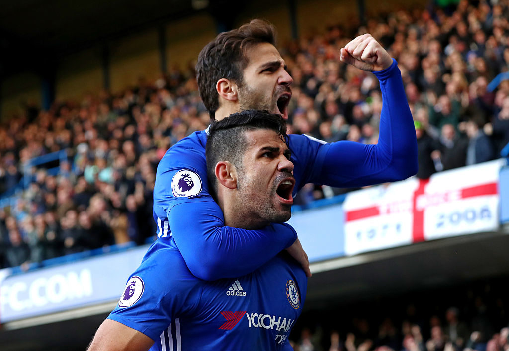 Diego Costa shows Chelsea