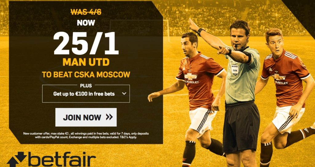 Awesome offer on Man United to beat CSKA Moscow