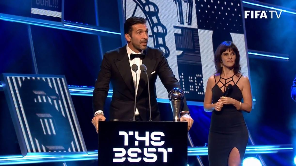 Gianluigi Buffon shows why he s idolised with The Best awards speech