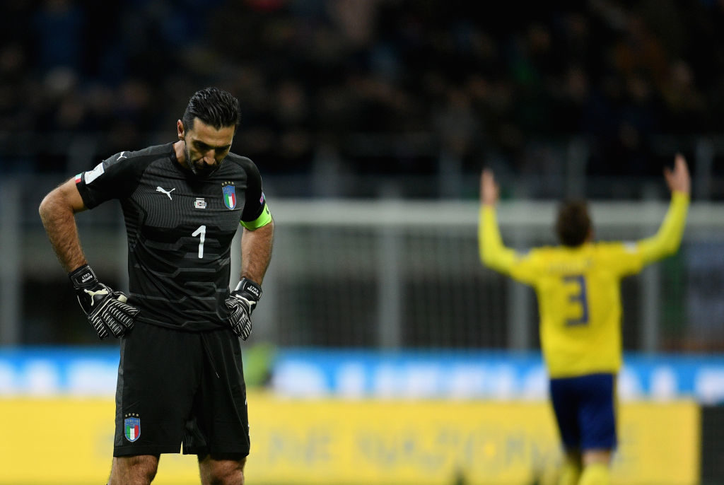 Gianluigi Buffon v Sweden