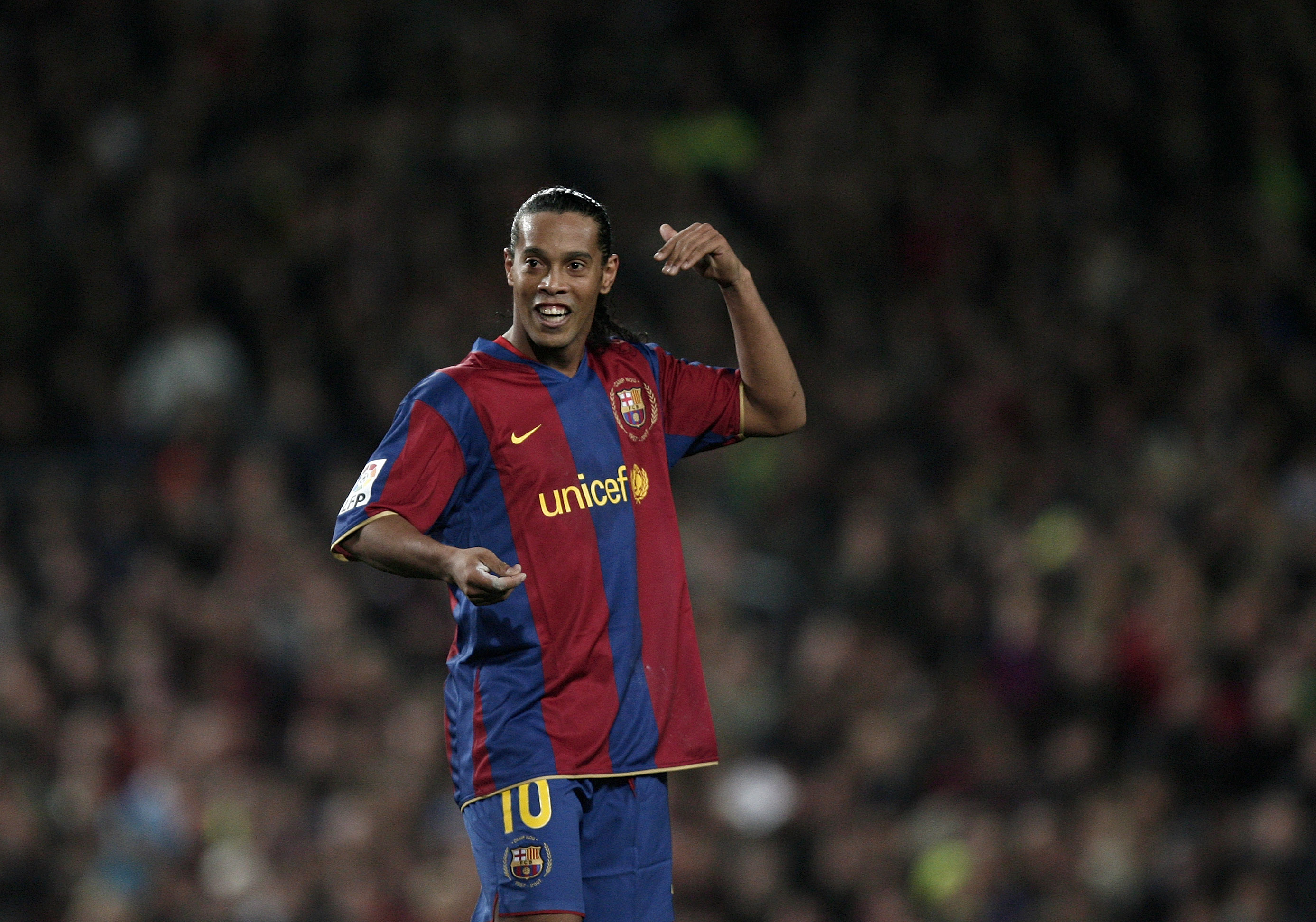 Ronaldinho avgjorde for barcelona