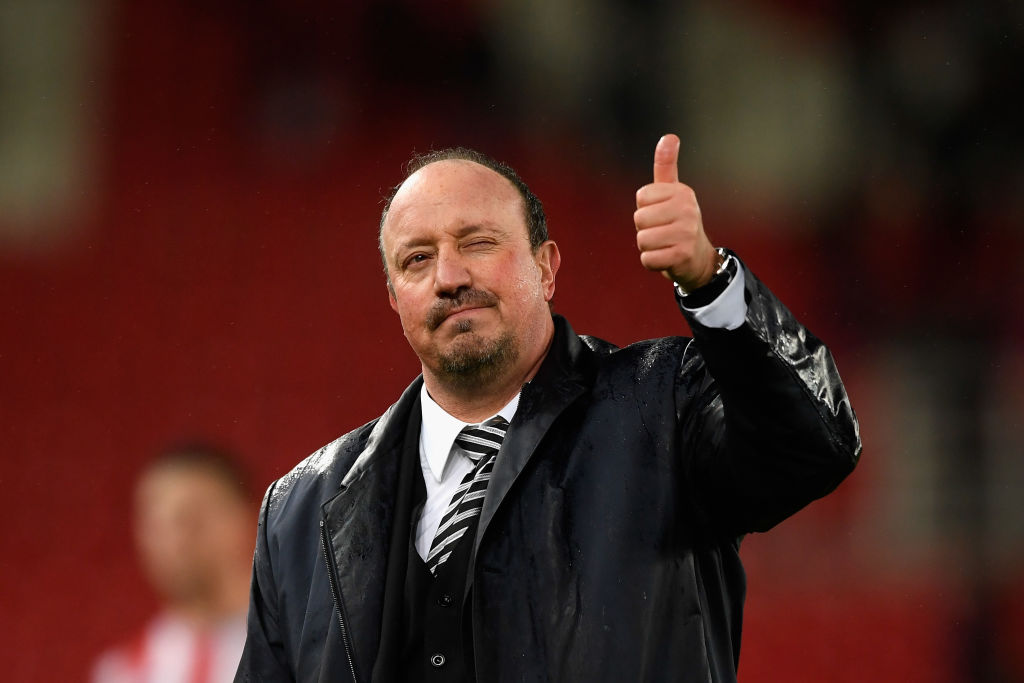 Rafa Benitez celebrates Newcastle win over Stoke