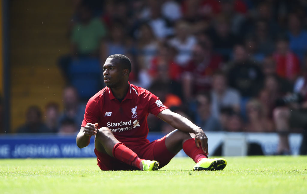 A return to football on the cards?  Former Liverpool striker Daniel Sturridge trains in Spain before his possible return
