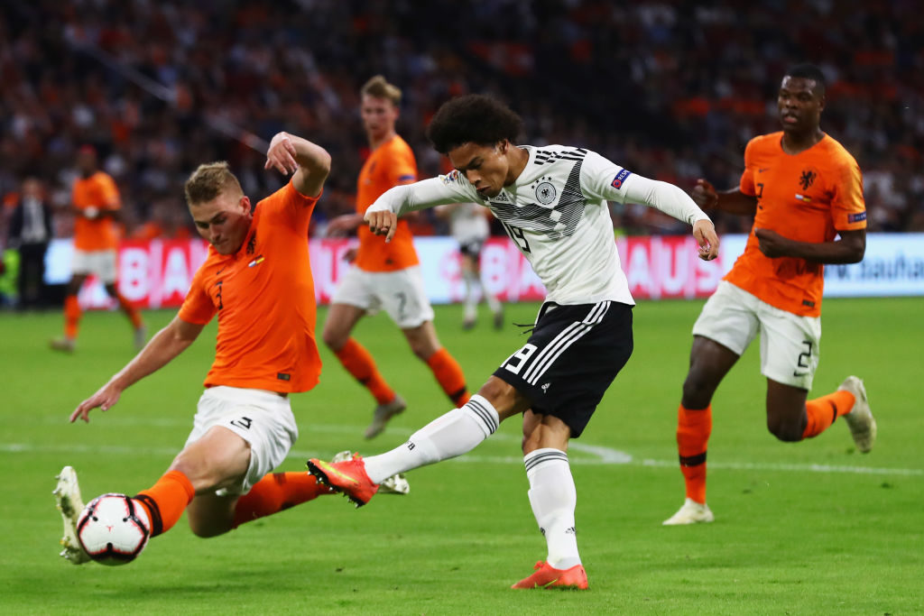 Matthijs de Ligt during Holland 3 - Germany 0