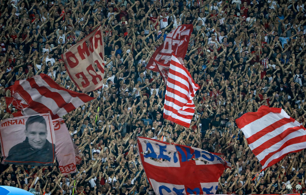 Red Star Belgrade fans