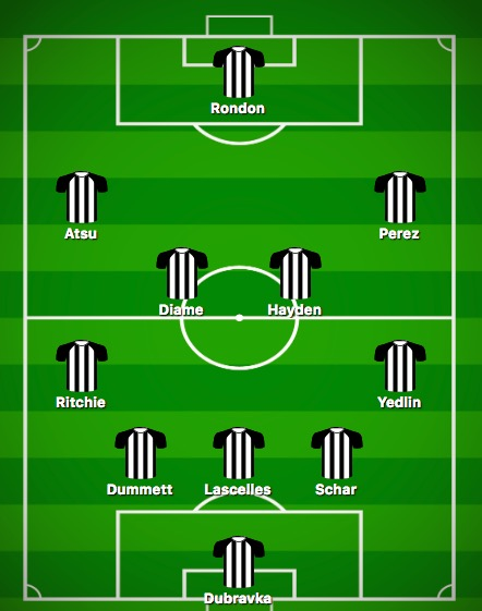Predicted Newcastle XI vs Manchester United