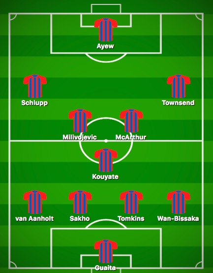 Predicted Crystal Palace XI vs Fulham
