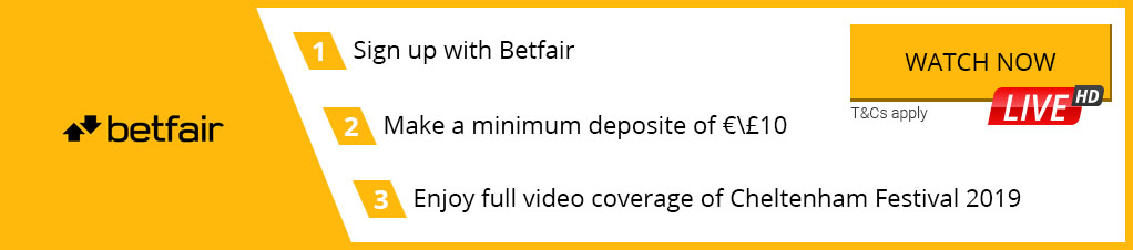 Watch Cheltenham Festival 2019 Live Streaming with Betfair