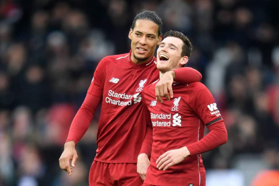 Andy Robertson and Virgil van Dijk