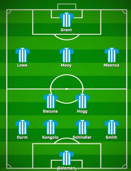 Predicted Huddersfield XI vs Manchester United