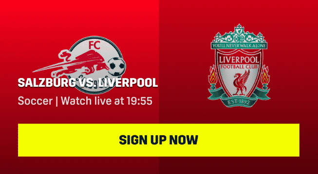 FC Salzburg vs Liverpool live streaming on DAZN