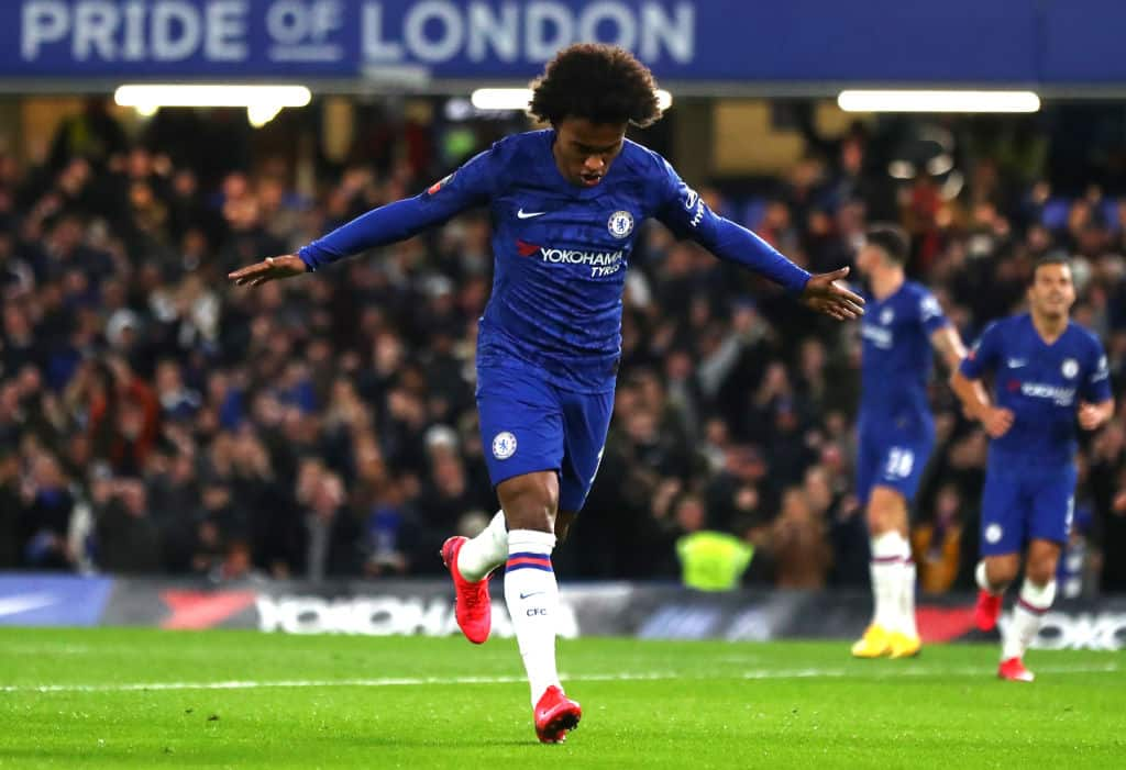 Willian believes it will be 'very difficult' for him to renew Chelsea contract - 101 great goals