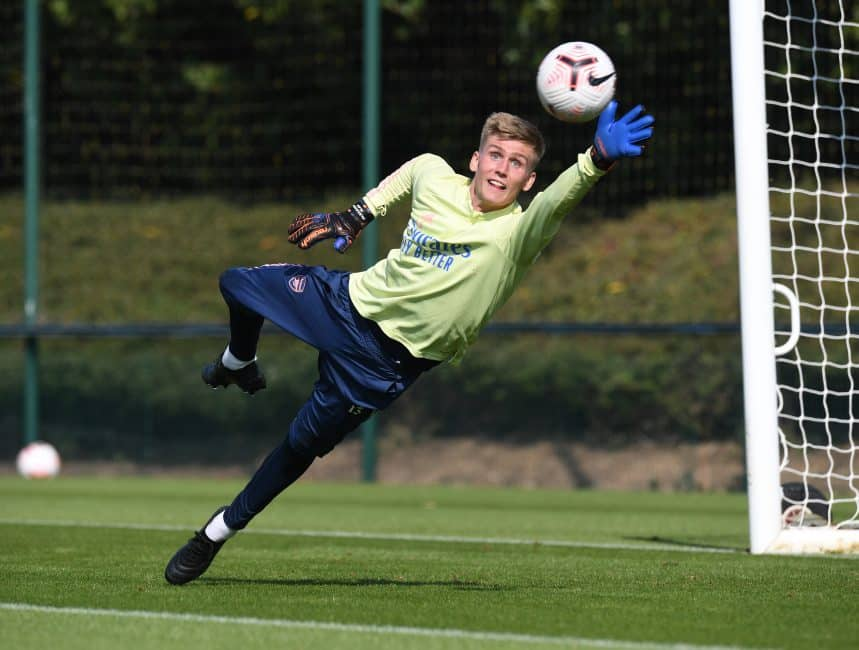 Arsenal leave Alex Runarsson out of Europa League squad with Martin Odegaard added