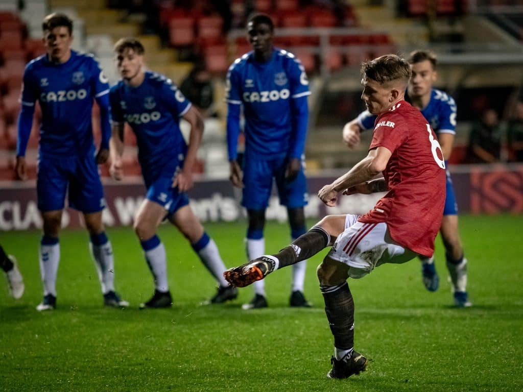Highlights: Williams stars & Pellistri debuts as Man United U23s down Everton