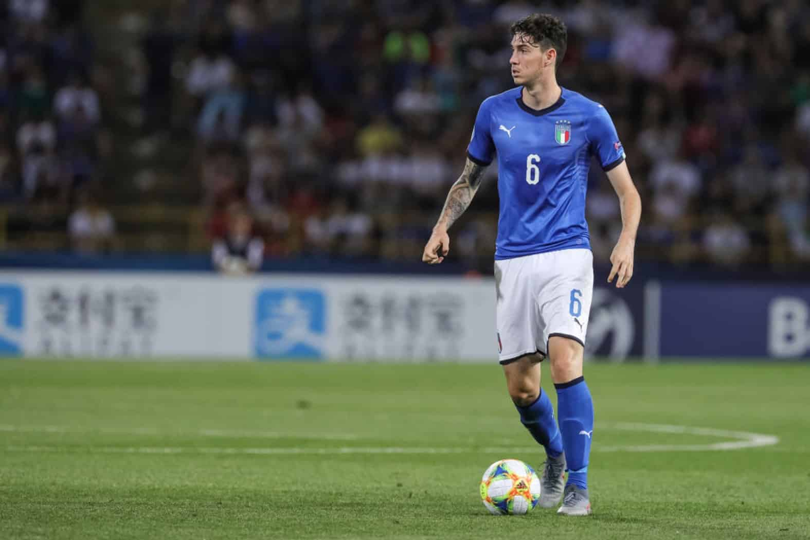 Alessandro Bastoni of Italy U21 during the UEFA UNDER21 Championship match between Italy and Poland at Renato Dall'Ara on June 19, 2019 in Bologna, Italy. (Photo by Emmanuele Ciancaglini/NurPhoto via Getty Images)