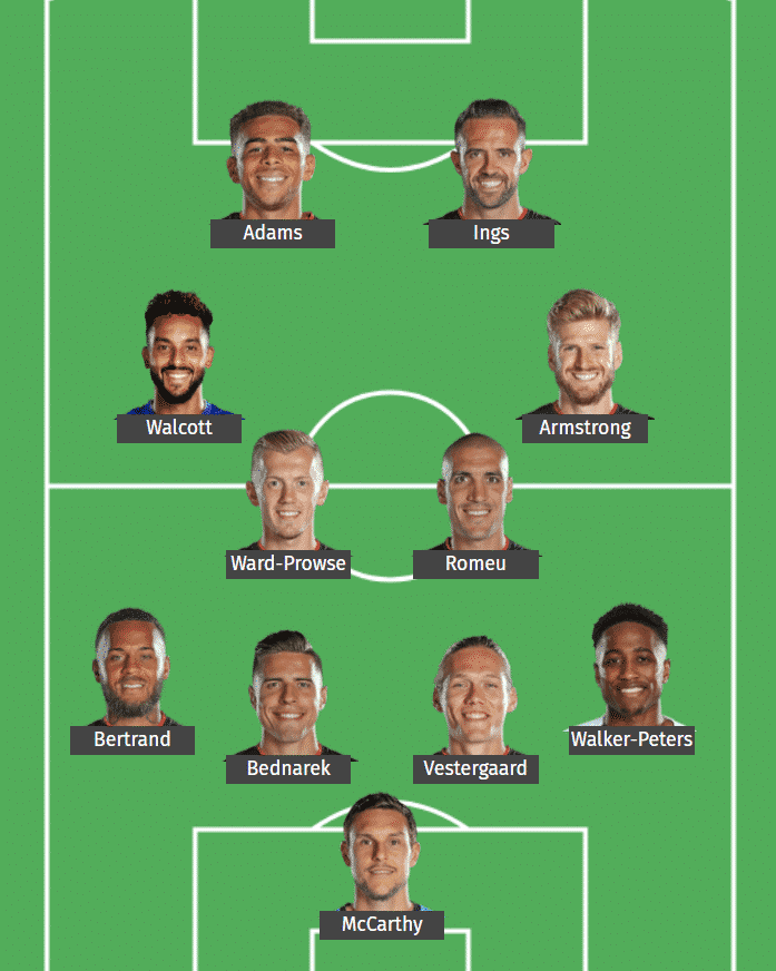Southampton's predicted XI to face Manchester City.
