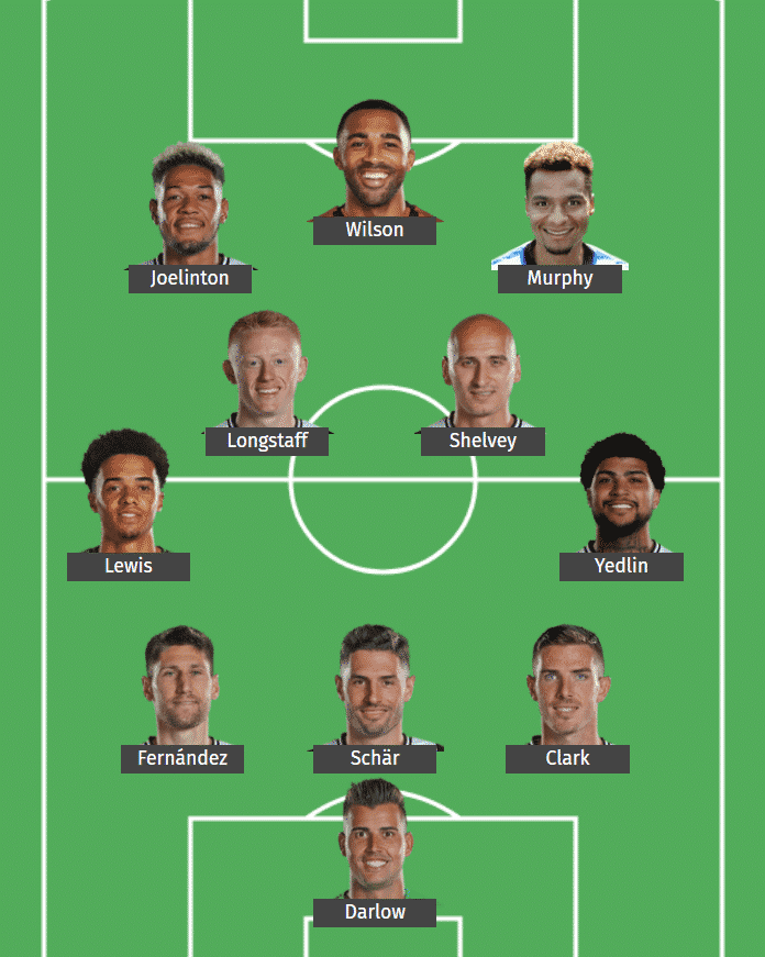 Newcastle United's predicted XI to face Leicester City.