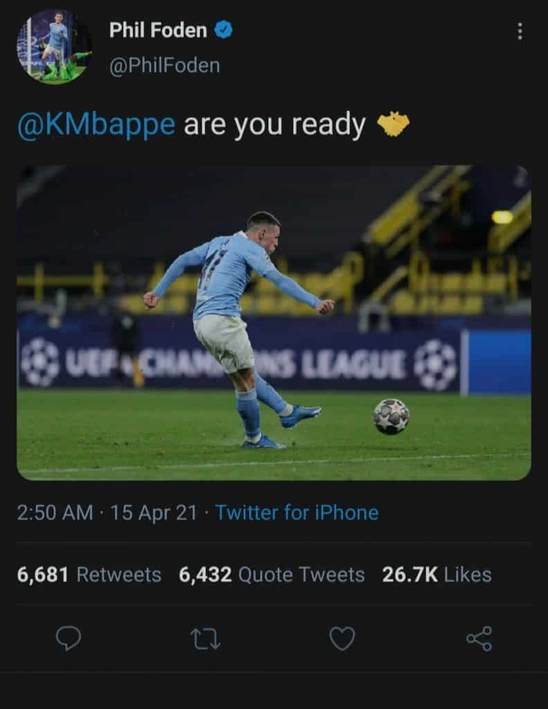 Ten Toes Media claim Phil Foden's Mbappe tweet was approved by player after Manchester City midfielder sacks social media team