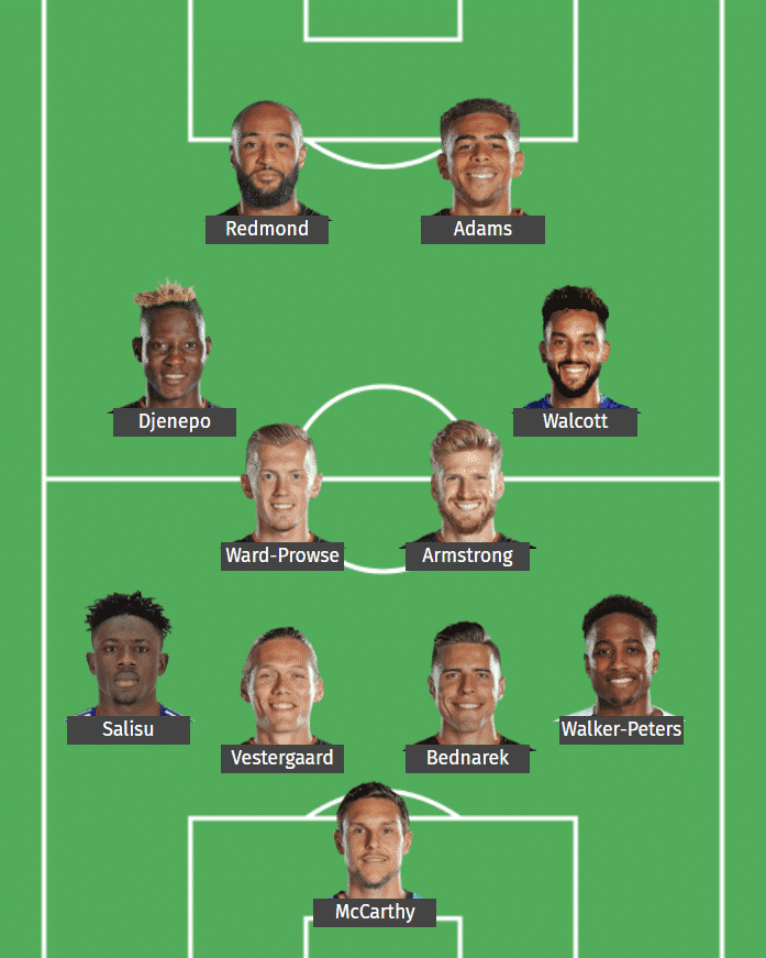 Southampton's predicted XI to face Leicester City.