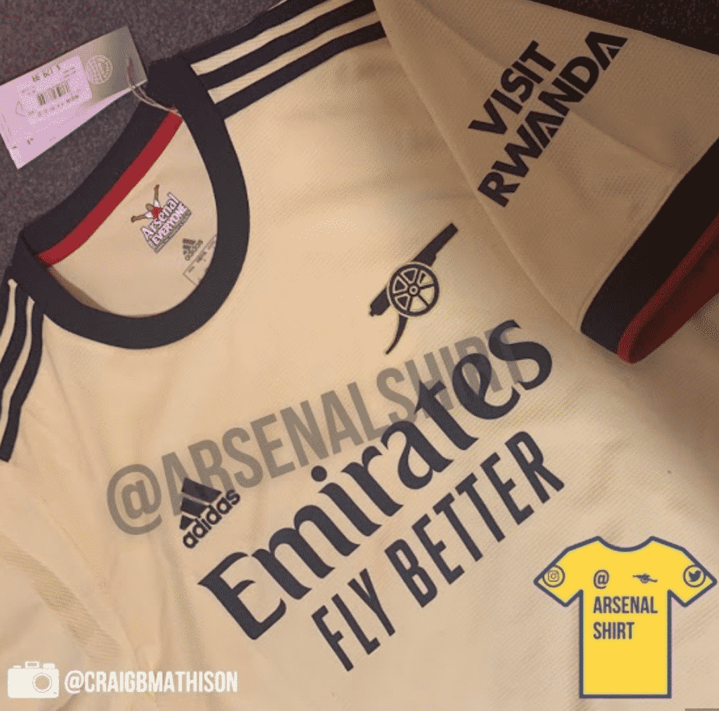 First official photos of Arsenal's throwback 2021/22 away jersey leak online