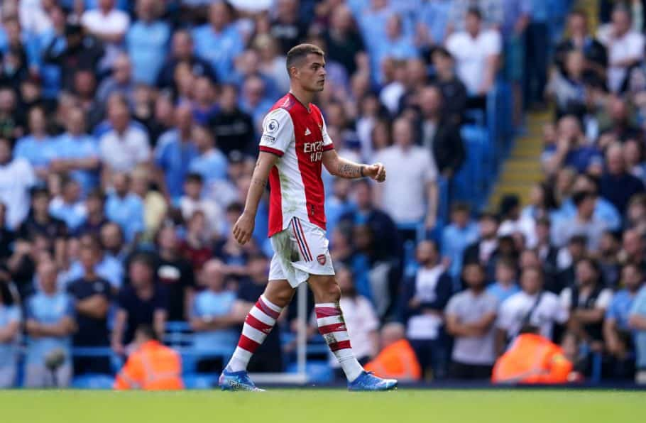'Unforgivable': Fans mourn Arsenal's decision to hand Xhaka a new contract following midfielder's latest red card against Man City
