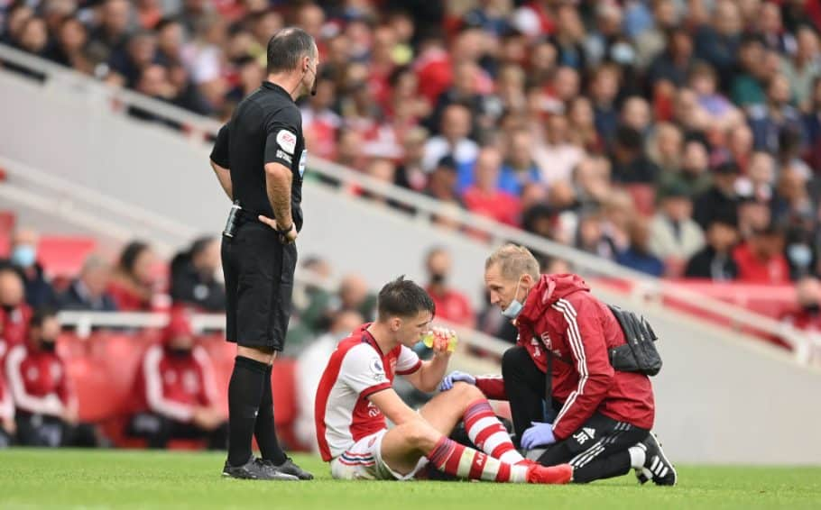 Arsenal boss Mikel Arteta provides Kieran Tierney update, Gabriel Martinelli eases injury fears & centre-back expected to miss out vs Man City