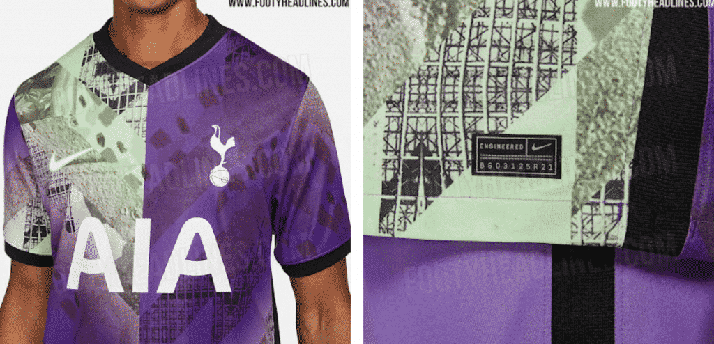 New images of the extravagant surface of Tottenham's third kit online