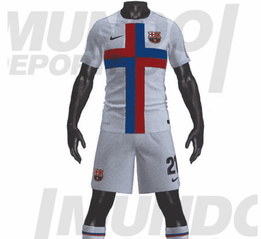 New clear-cut photos of Barcelona's home, away & 3rd jerseys for 2022/23 leak online