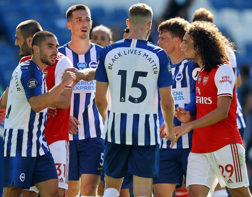 Arsenal fans strike back as Brighton and Maupay target the Gunners ahead of Amex clash